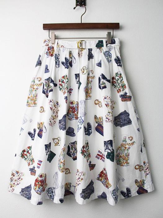 LoisCRAYON(ロイスクレヨン) 古着 リサイクル クローゼット プリント フレア スカート
