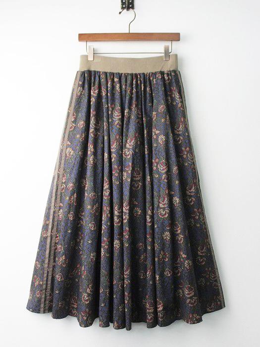 LoisCRAYON(ロイスクレヨン) ゴブラン フラワー プリント ロング スカート
