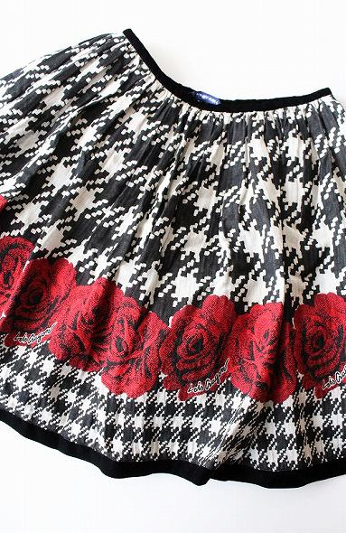 LoisCRAYON(ロイスクレヨン) 千鳥薔薇ジャガードスカート