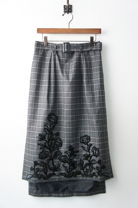 LoisCRAYON(ロイスクレヨン) チェック シシュウ スカート