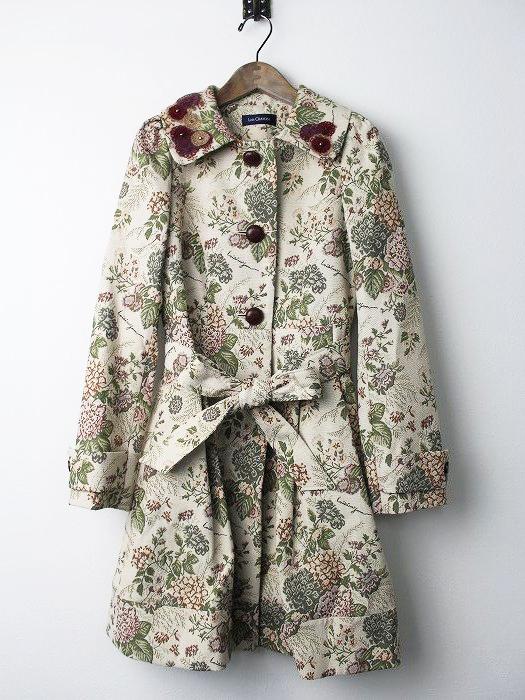 LoisCRAYON(ロイスクレヨン) 刺繍入り ゴブランフラワー ロングコート