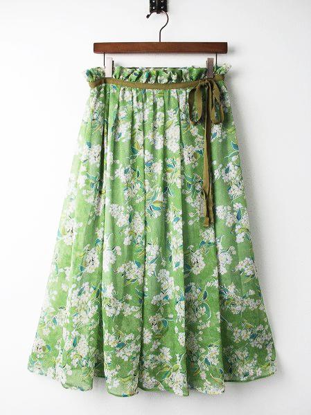 LoisCRAYON(ロイスクレヨン) 古着 リサイクル チェリーブロッサム プリント スカート
