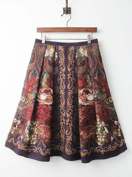 LoisCRAYON(ロイスクレヨン) ヴィンテージ フラワー パネル スカート