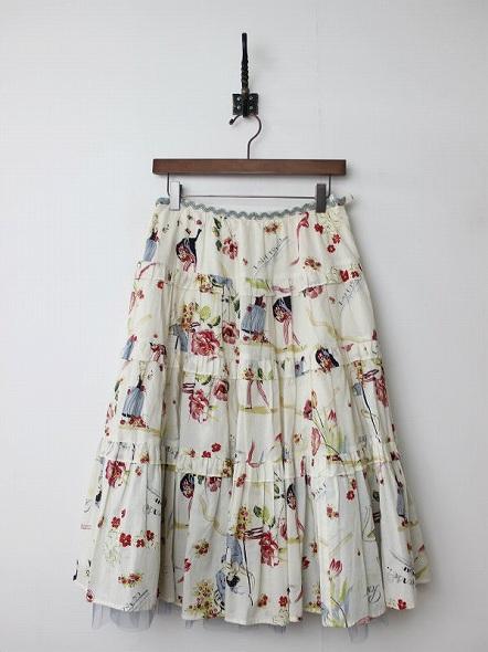 LoisCRAYON(ロイスクレヨン) 古着 リサイクル アンジェラ ティアード スカート
