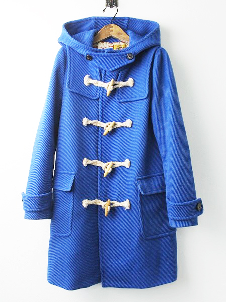 LoisCRAYON(ロイスクレヨン) 古着 リサイクル ロイヤルブルー ウール ダッフル コート