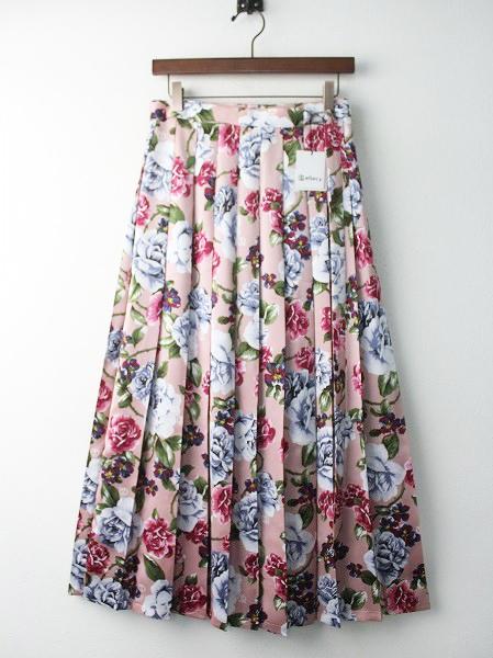 LoisCRAYON(ロイスクレヨン) 古着 リサイクル フラワー プリント プリーツ ロング キルト スカート