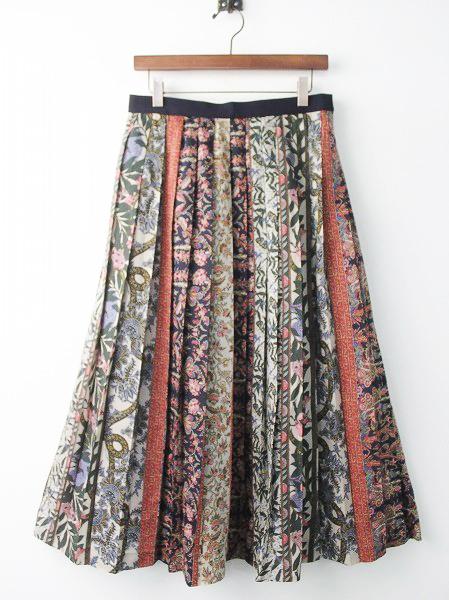 LoisCRAYON(ロイスクレヨン) 古着 リサイクル フォークロア プリーツ スカート