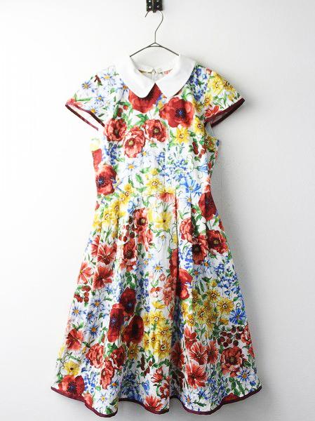 LoisCRAYON(ロイスクレヨン) 古着 リサイクル 衿付き ガーデン プリント ワンピース