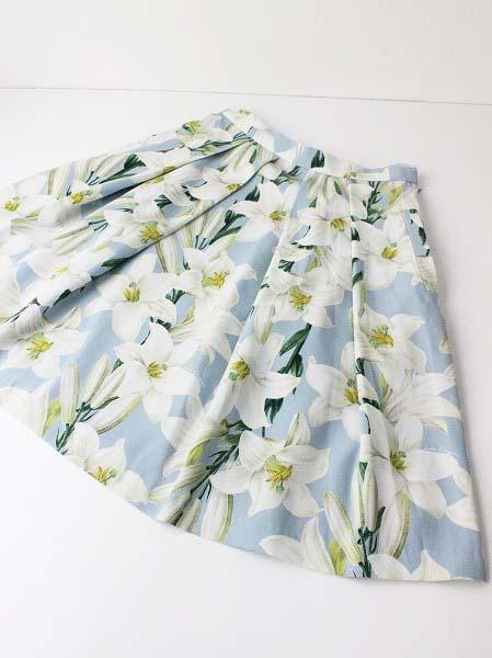 LoisCRAYON(ロイスクレヨン) 古着 リサイクル リリー プリント スカート