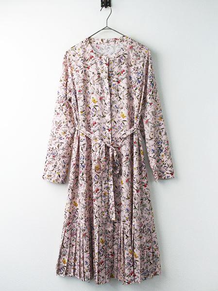 LoisCRAYON(ロイスクレヨン) ピンクフラワー シャツ ワンピース