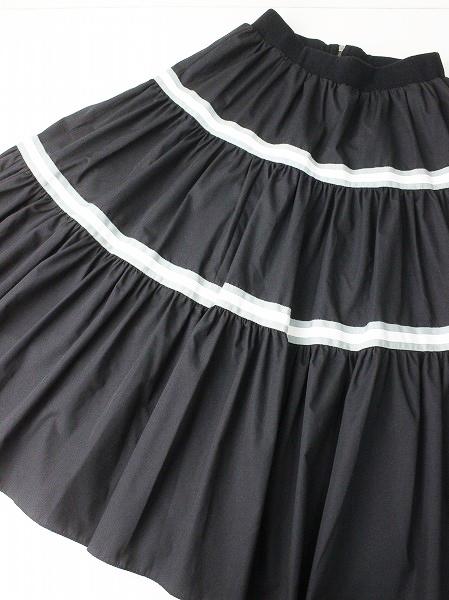 LoisCRAYON(ロイスクレヨン) ライン ティアード スカート