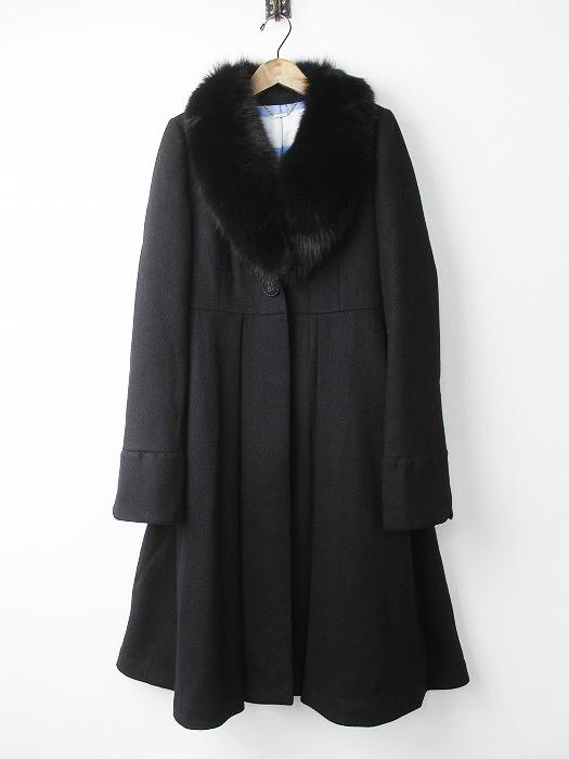 LoisCRAYON(ロイスクレヨン) 2016 受注コート キャメロット ファー付き ロングコート