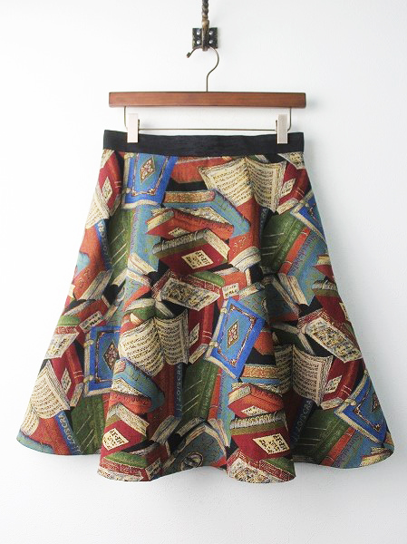 LoisCRAYON(ロイスクレヨン) BOOK ゴブラン フレア スカート