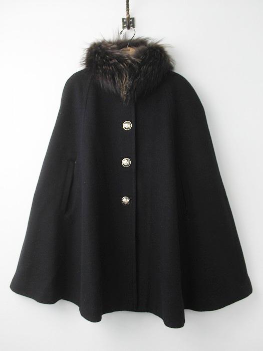 LoisCRAYON(ロイスクレヨン) 古着 リサイクル 2012 受注コート グランダルシュ ファー 付き マント コート