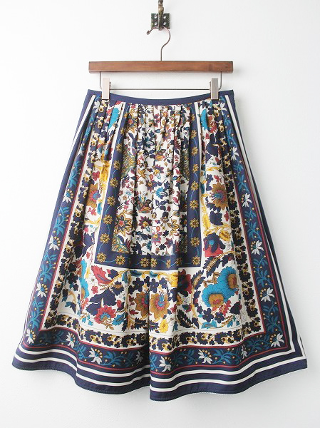 LoisCRAYON(ロイスクレヨン) 古着 リサイクル クラシカル フラワーパネル スカート
