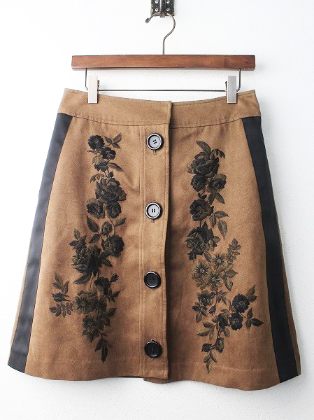 LoisCRAYON(ロイスクレヨン) 古着 リサイクル スウェード シシュウ スカート