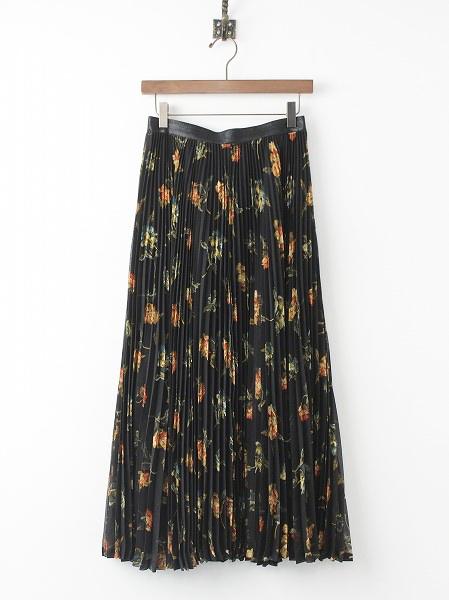 LoisCRAYON(ロイスクレヨン) 古着 リサイクル フラワー プリント プリーツ C2 スカート
