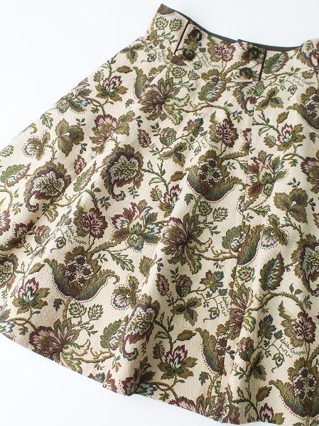 LoisCRAYON(ロイスクレヨン) 古着 リサイクル  ウエストアクセント フラワー ゴブラン スカート