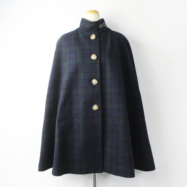 LoisCRAYON(ロイスクレヨン) 古着 リサイクル チェック ポンチョ コート