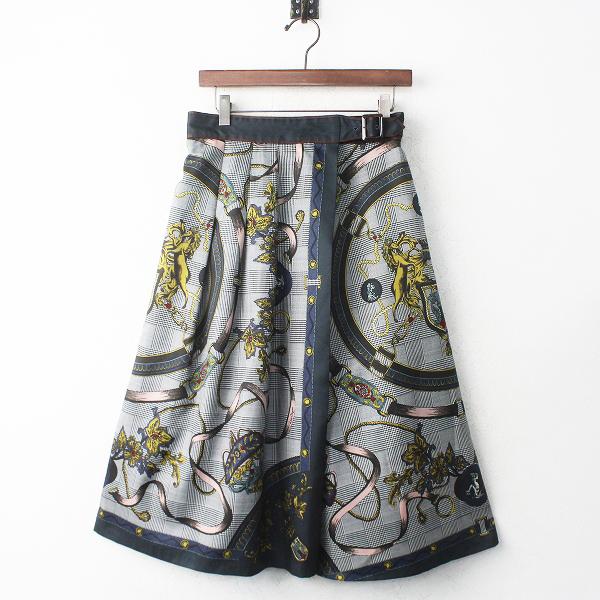 LoisCRAYON(ロイスクレヨン) グレンチェック スカーフ スカート