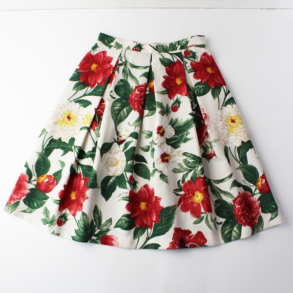 LoisCRAYON(ロイスクレヨン) 古着 リサイクル 2016SS Lois CRAYON ロイスクレヨン レッドフラワープリントスカート