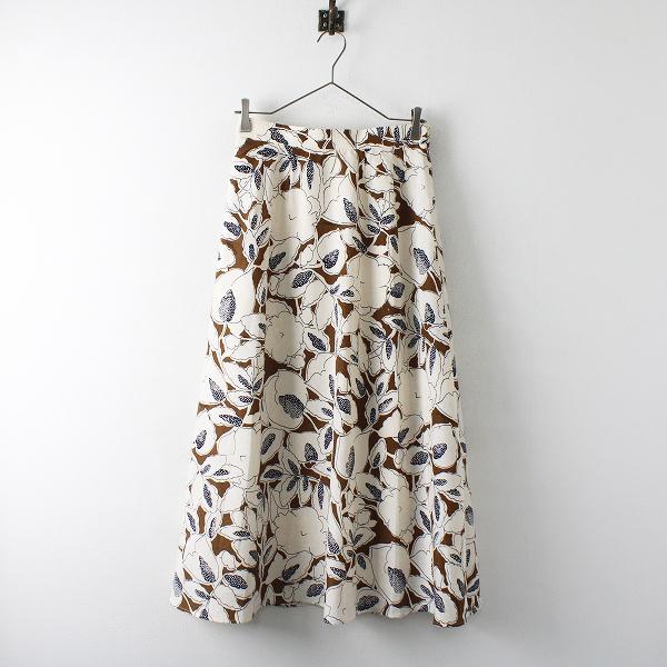 LoisCRAYON(ロイスクレヨン) 古着 リサイクル 2019AW Lois CRAYON ロイスクレヨン ゆったりシルエットブラウンリーフプリントロングスカート