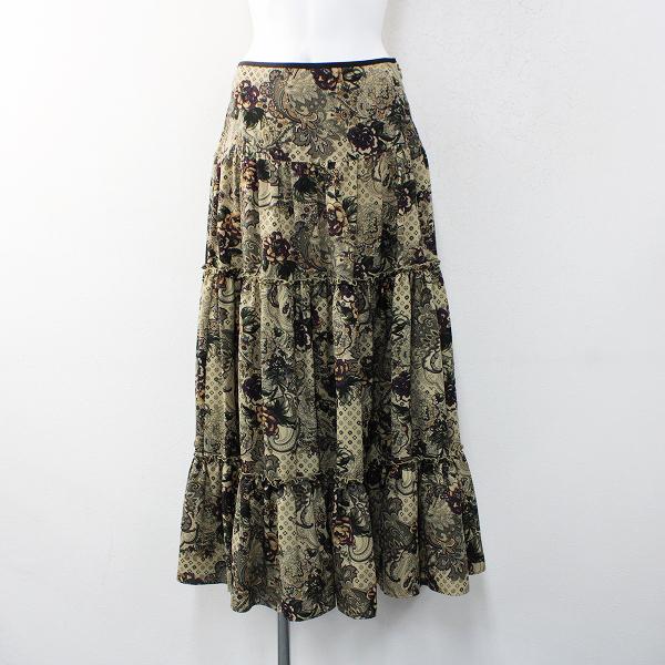 LoisCRAYON(ロイスクレヨン) 古着 リサイクル 2018SS 春夏 Lois CRAYON ロイスクレヨン フラワーペイズリーティアードスカート