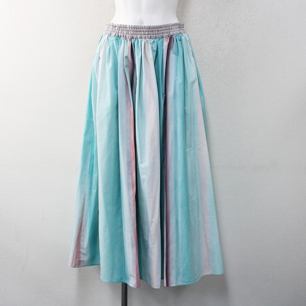 LoisCRAYON(ロイスクレヨン) 古着 リサイクル 2021SS Lois CRAYON LIFE WITH FLOWERS ライフウィズフラワーズ グラデーションプリントマキシスカート